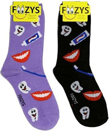 Dentist Tooth Teeth Happy Brushing Dental ~ Foozys Woman Crew ~ 1 or 2 Pairs