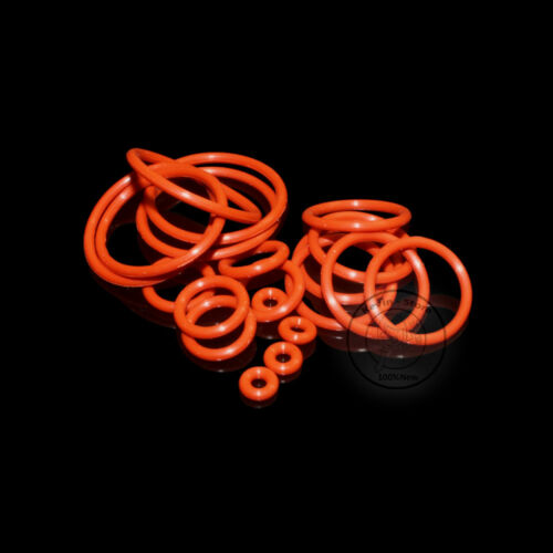 2~37MM Red Food Grade Silicone O-Ring (Line diameter:1.5mm)