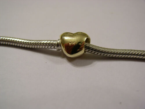 KAEDESIGNS GENUINE 9ct Yellow or Rose or White Gold or Silver HEART BEAD CHARM