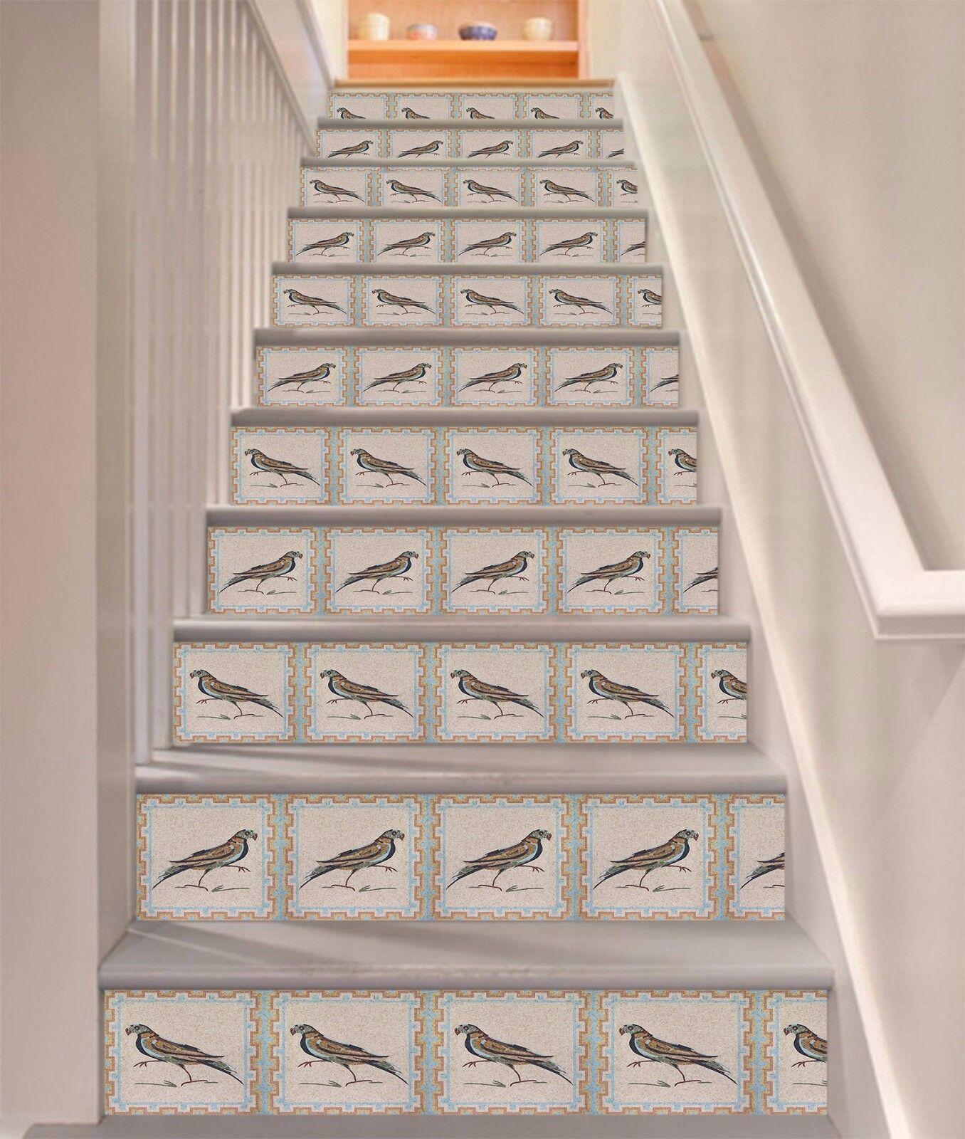3D Vogelmuster 387 Stair Risers Dekoration Fototapete Vinyl Aufkleber Tapete DE