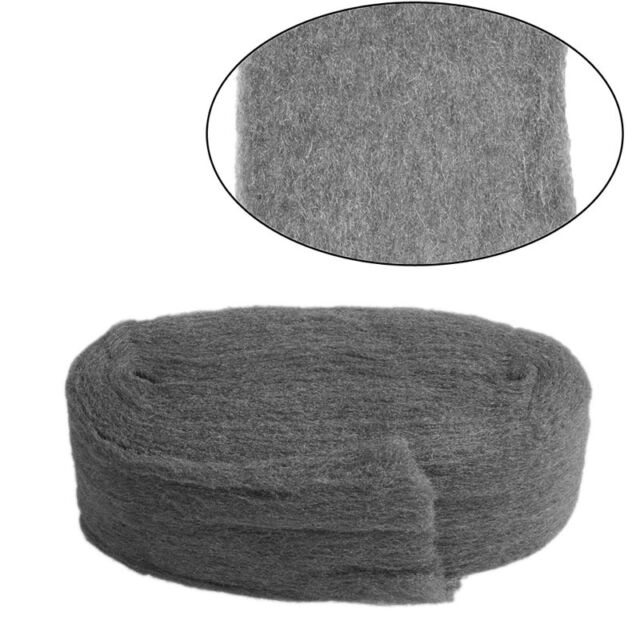 New Grade 0000 Steel Wire Wool 3.3m For Polishing Cleaning Remover Non Crumble