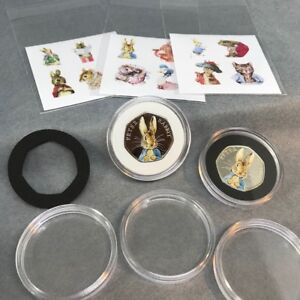 Beatrix-Potter-Decal-Coloured-Stickers-FULL-SET-inc-2018-Coin-Capsules-a