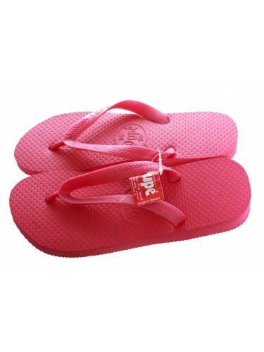 Dupe Zehentrenner Monocolor rosa Schlappen Urlaub Beach Schuhe Badesandalen