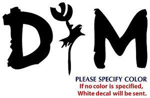 "Depeche Mode Metal Graphic Die Cut decal sticker Car Truck Boat  window 7/"""
