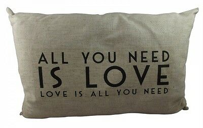 East of India All You Need Is Love Cushion -2nd Wedding Anniversary Cotton blend