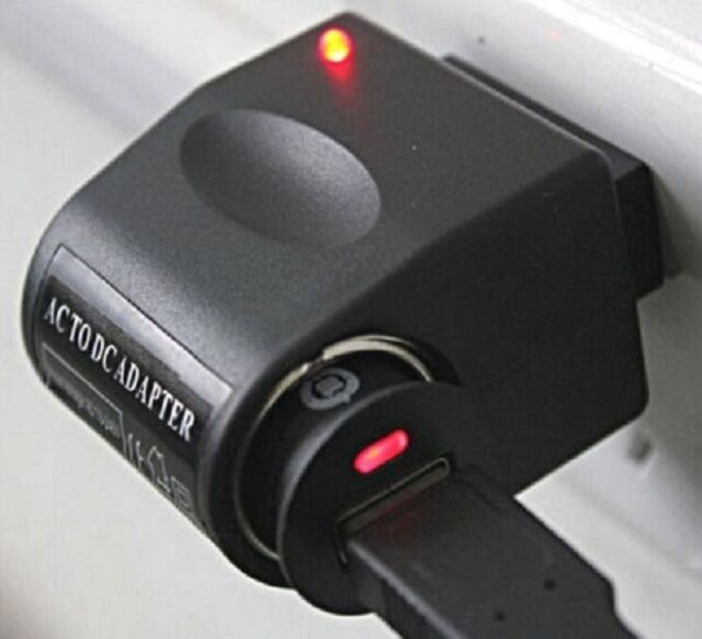 Car Cigarette Lighter Adapter Converter 110V-220V AC Wall Power to DC 12V ☆