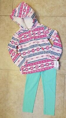 NWT Carter/'s Girls 2pc Set Bear Long Sleeve Shirt Animal Leggings 4T,5T,12m