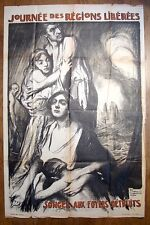 Guerre 1914-18 Affiche emprunt signée Fouqueray WW1