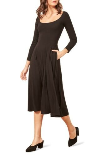 $118 REFORMATION Size M Lou Midi Length Fit And Fl
