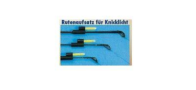2 Stk KNICKLICHTHALTER SELBSTLEUCHTED FLUO KNICKLICHT HALTER FÜR RUTENSPITZE