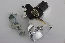 Bicycle Headlight Sanyo Dynamo Generator Halogen Chrome Finish 6V/2.4W NEW Light