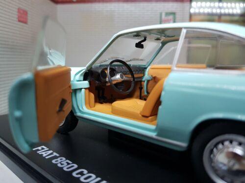 G LGB 1:24 Echelle 1965 Bleu Siège Fiat 850 Coupe Modèle Très Détaillé Voiture