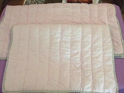 Pottery Barn Kids Branson Euro Shams Light Pink Gray 2