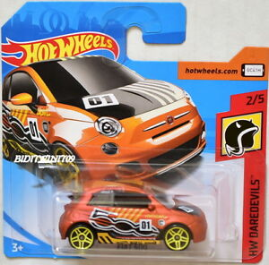 Hot Wheels Fiat 500 HW daredevils 2//5 1:64 2018 mattel
