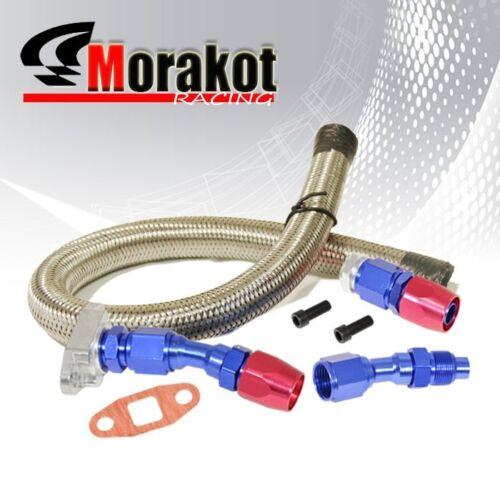 Universal T3 T4 T3//T4 T04E T60 T70 Gt30 Turbo Oil Return Line Oil Drain Line Kit
