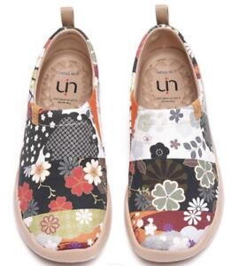 UIN-ART-OF-HANA-LADIES-CANVAS-SLIP-ON-TRAVEL-SHOES-SIZE-39-8