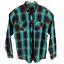 INC-International-Concepts-Mens-Button-Up-Shirt-Blue-Aqua-Plaid-Long-Sleeves thumbnail 1