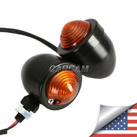 2x Black Turn Signal Lights For Suzuki Intruder Volusia Vs Vl 800 1400 1500