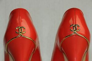 New Chanel Pearly Coral Red Patent CC