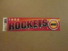 NBA Houston Rockets Vintage 1990's Logo Basketball Bumper Sticker