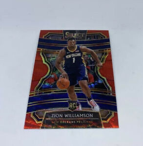 2019-20 PANINI SELECT ZION WILLIAMSON #1 CONCOURSE RED PRIZM WAVE SP ROOKIE!