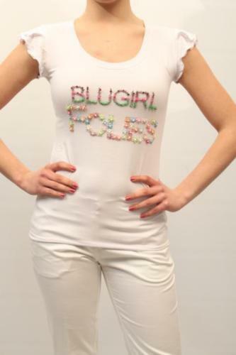 BlauGIRL MAGLIA  - 50% damen A4160 6358 BIANCO MIS.42 PP