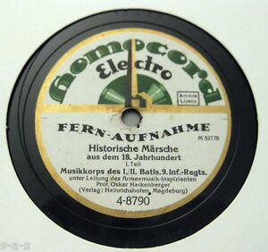"""Hackenberger - """"Historische Märsche a.d. 18 Jahrhundert"""" 1&2 HOMOCORD (010) - Berlin, Deutschland - Hackenberger - """"Historische Märsche a.d. 18 Jahrhundert"""" 1&2 HOMOCORD (010) - Berlin, Deutschland"""