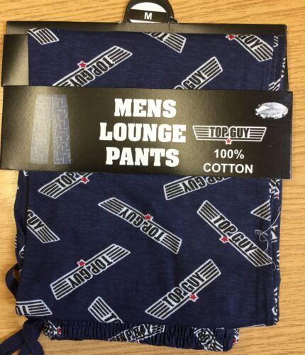 IDEALE per l/'uomo nella tua vita. Da Uomo Navy Lounge Pantaloni Con Dettaglio Top Guy