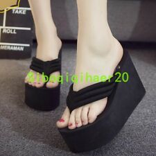 c23e8f089dcde item 8 Women s Fashion High Sexy Thong Platform Wedge Heels Flip Flops  Beach Sandals SZ -Women s Fashion High Sexy Thong Platform Wedge Heels Flip  Flops ...