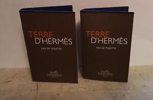 Hermes Terre d ' Hermes 2 x 2 ml Phiolen Spray für Herren (Vintage)