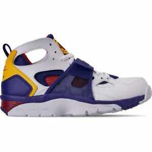 separation shoes 81339 11368 Image is loading Nike-Air-Trainer-Huarache-Training-White-Purple-Amarillo-