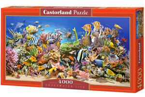 "Brand New Castorland Puzzle 4000 UNDERWATER LIFE 54"" x 27"" C-400089"