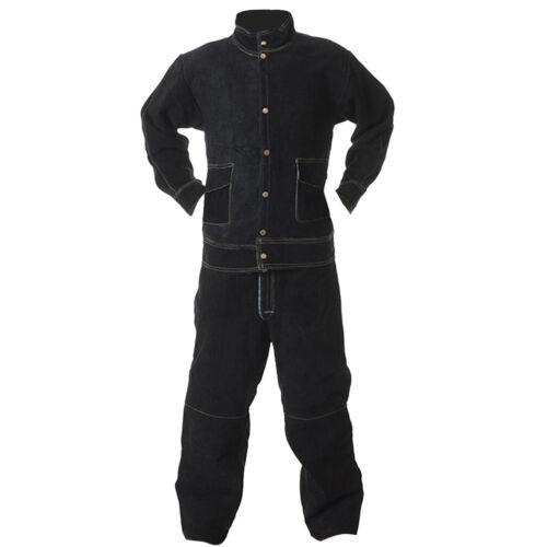 Cowhide Welding Suit Welding Heat Insulation Protection Protective Jacket