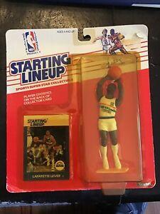1988 Lafayette Fat Lever Denver Nuggets Kenner NBA Starting Lineup SLU MOC 88