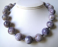 Flower Sugilite Necklace Large 18mm Sterling Necklace Made In Usa Handcrafted