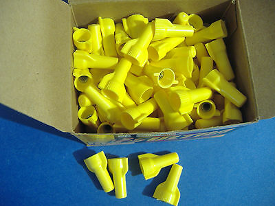 100 Gardner Bender Yellow Wing Gard Wire Connector Conical Nuts 32076100841 Ebay