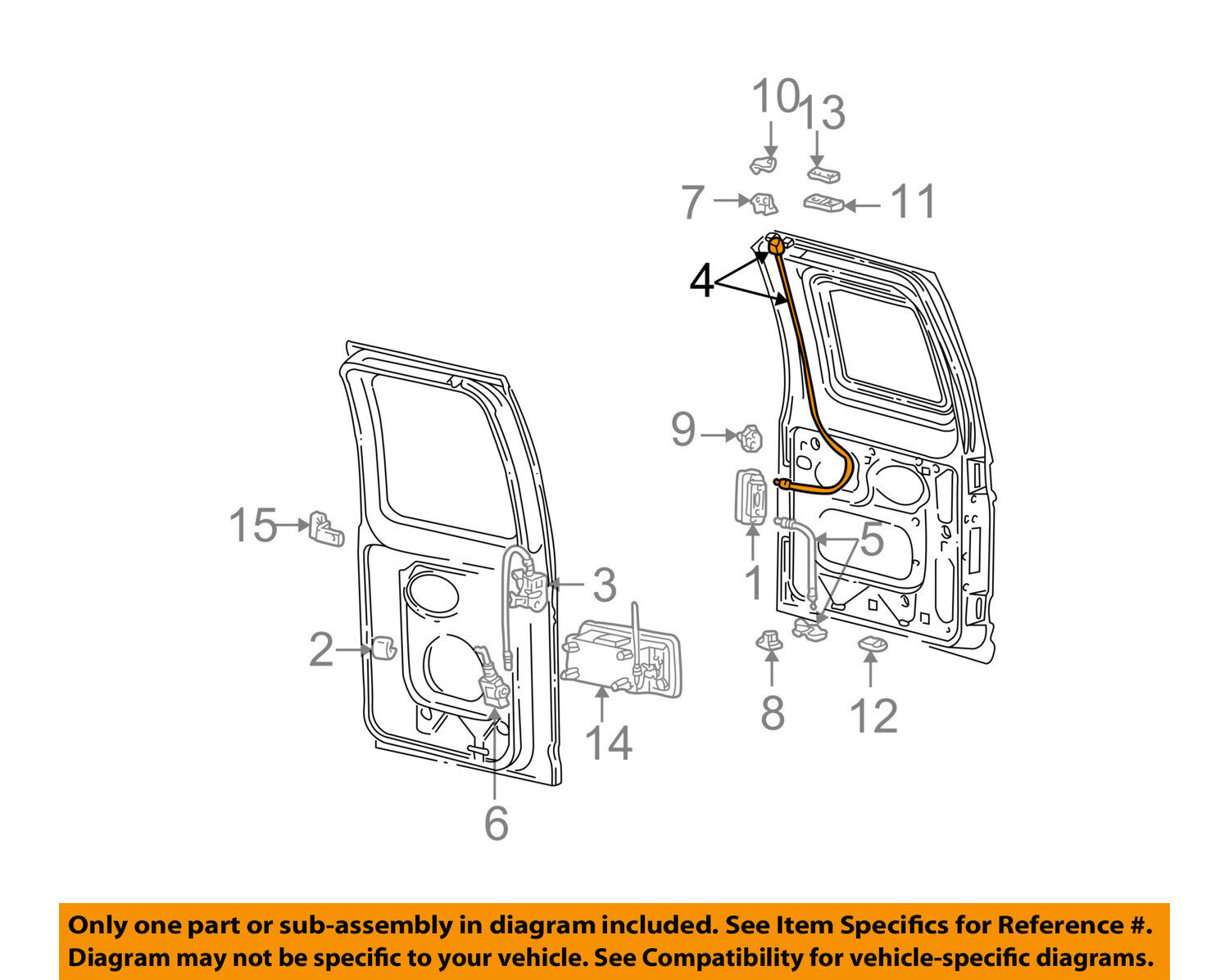 NEW OEM Genuine Ford Latch Rear Door LH 1992-2003 E150 E250 6C2Z1543286AA