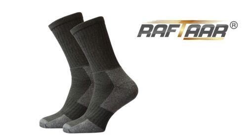 Raftaar ® Premium homme workwear chaussettes renforcées talon /& orteil coton riche Boot Lot