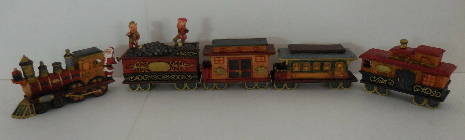 Holiday Santa Express Train 1995 by World Bazaars - 5 Piece - New with Boxes