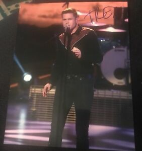 TRENT HARMON SIGNED 8X10 PHOTO AMERICAN IDOL C W/COA+PROOF RARE WOW