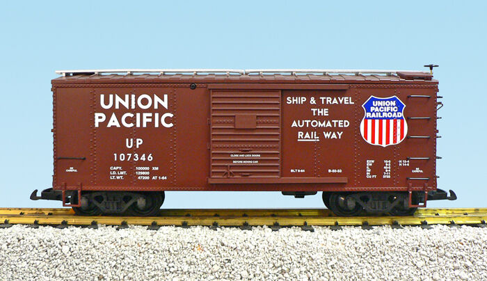 USA Trains G Scale R19105 Union Pacific Box Car CHOICE  's NEW RELEASE