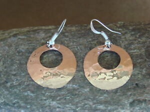 Navajo-Indian-Hand-Stamped-Hammered-Copper-Earrings-by-Douglas-Etsitty