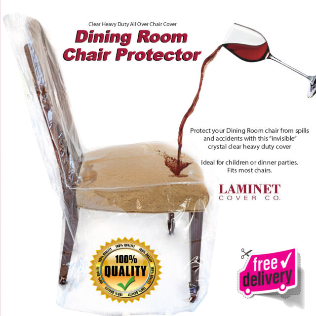 Furniture Protector Dining Room Chair Plastic Cover Crystal Clear Vinyl Seamed
