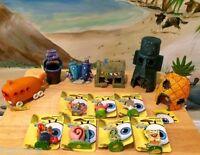 Spongebob & Friends + Houses 14 Pc Aquarium Us Seller Decoration Ornaments Set