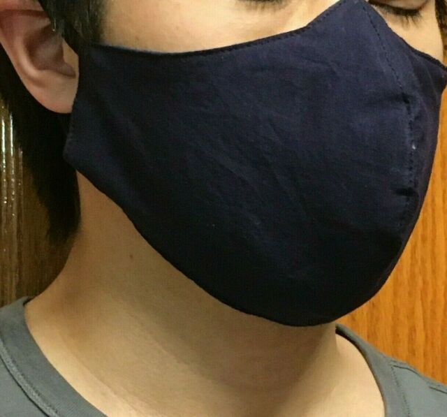 MADE IN CANADA | Quality Cotton Face Masks in Navy, multiple sizes