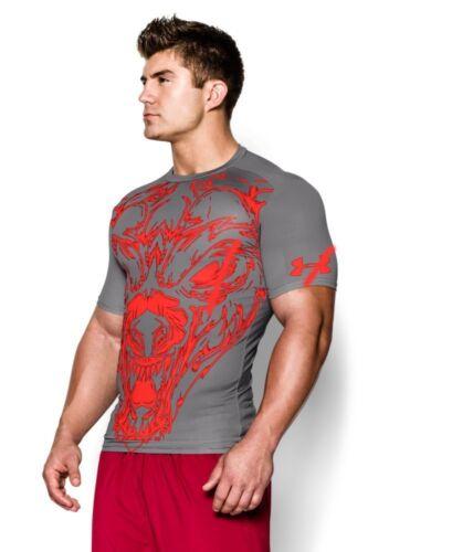 Under Armour Men/'s UA 100/% BEAST Compression Shirt Lion or Shark Wolf