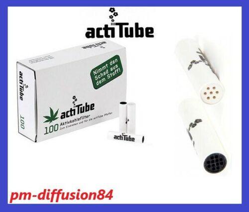 35 mm x 8 mm - 300 FILTRES à CHARBON Actif 3 Boîtes de 100 ACTI TUBE