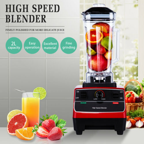 RED 2L 2200W Commercial Blender Food Processor Mixer Smoothie Juicer Ice Crusher