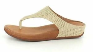da7601900 Image is loading FitFlop-Womens-Banda-Perforated-Thong-Sandal-Shoes-Urban-