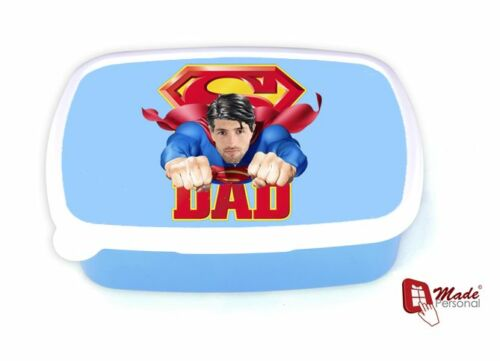 Personnalisé boîte déjeuner-super papa photo design-father /'s day-tout nom et photo
